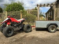 110cc Quad Bike & Trailer