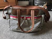 Babymel baby change bag- stripe