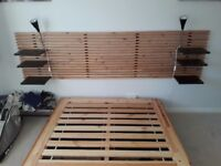 Double bed frame and headboard