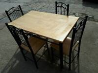 Wooden / Metal chairs + dining table
