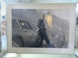 James Bond Aston Martin framed picture