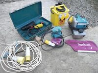 Makita tool set - 1x Belt Sander, 1x Palm Sander, 1x SDS drill, 1x 110V transformer - Working order