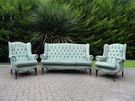 Mint-Green Wingback 3+1+1 Suite