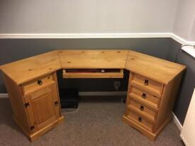 Corona wood desk