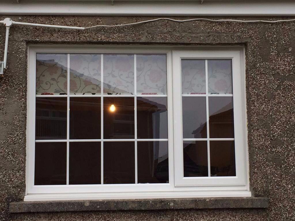 Rehau A Grade Double Glazed Upvc Window With Georgian Bar