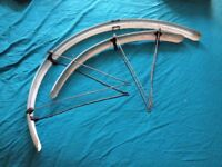 Bicycle mudguards light alloy also rear wheel
