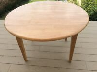 Wooden Dining Table with side flaps