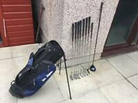 Golf clubs full set of Ben Sayers irons 4-PW, driver, Putter & Bag. Lovely Starter Set.