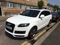 AUDI Q7 3.0 QUATTRO S LINE FULL HEATED LEATHERS, PANARAMIC ROOF, SIDE STEP,XENON,FULL AUDI HISTORY