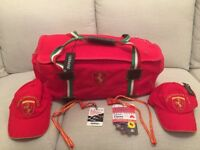 An original Ferrari weekend bag