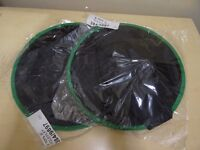 2 X WITCHES HATS - AGE 3-5 YRS - BLACK WITH GREEN RIM - NEW IN PACKAGING