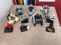 Star Wars Lego compatible mini figures and vehicles
