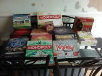 New and used board games.