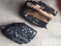 Children Baseball Gloves: barely used