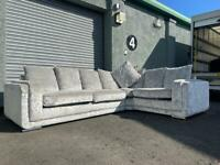 (Purchased) Absolutely Gorgeous silver/grey corner sofa delivery 🚚 sofa suite couch furniture
