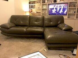 Luxury Leather corner sofa 3 seater chaise