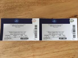£65 Ono - two seated tickets for Bring Me The Horizon at the 02 in London on Monday 31st October