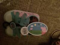 Peppa Pig Sneaker, size 11, bnwt