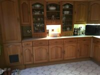 Real wood kitchen units for sale plus integrated bosch dishwasher ready for collection 1.3.17