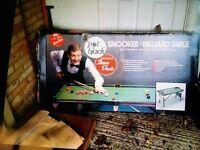 Snooker or Billiard table (Steve Davis Pot Black)