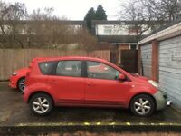 Nissan note 06. Spares and repairs