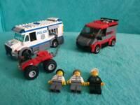 Lego city police prisoner transport with van and quad bike