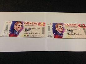Elton John Airdrie 24th June x 2