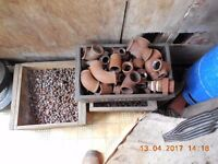 """Fittings 1/2"""" to 1 1/4"""" and roofing bolts. £5 per box"""