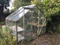 Free Green house and shelfs.