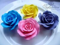 HANDMADE ICING SUGAR ROSES LARGE CAKE DECORATIONS/TOPPERS