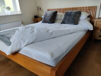 IKEA Oak Bed Frame with Mattress