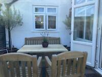Zest4Leisure Garden Furniture Emily set 3 seater bench, 2 chairs and a table
