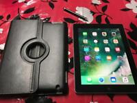 Apple iPad 4 Space grey WIFI+4G Cellular with case