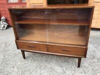 Teak Display Cabinet Sideboard Book Case Shelf Unit With Drawers G Plan Era Delivery Available