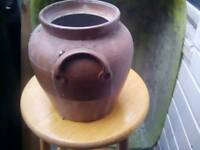 Brown coloured urn