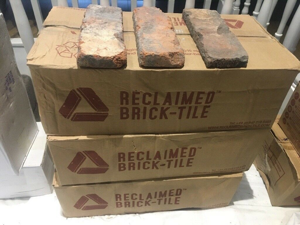 4 x boxes of Reclaimed brick tiles
