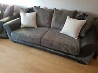 Large 2 seater sofa and cuddle couch