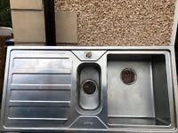 SMEG Stainless steel 1 - 1/2 bowl kitchhen sink