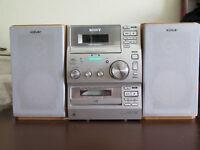 Silver and Wood Sony HCD CP100 Mini Hi-fi System