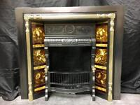Antique Victorian Cast Iron Insert fireplace Surround.