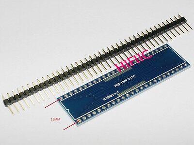 2pcs Tssop48 Ssop48 To Dip48 Adapter Pcb Conveter Boardheader Gold Pins