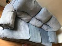 Duck egg blue sofa