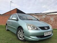 Honda Civic 1.6 i-VTEC Executive Hatchback 5dr 2005 Hatchback Manual+Long MOT+FSH+Full Leather