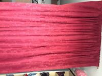 Pair CURTAINS SUNDOUR LINED Vine colour good used condition very long an width