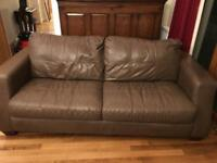 2 leather sofas. Two and three seater