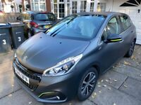 2016 PEUGEOT 208 5DR 1.2 PURE TECH XS LIME STUNNING ICE SILVER VERY RARE PEUGEOT FACTORY MATTE PAINT