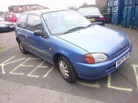 1998 TOYOTA STARLET 1.3..MOT AND TAXED...TIMING BELT CHANGED..
