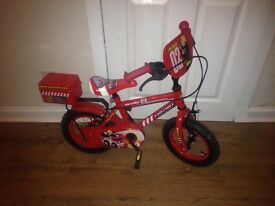 "Kids firefighter bike. 12"" wheel great condition"