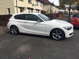 BMW 1 series 116d sport 2.0l diesel white! £30 tax!