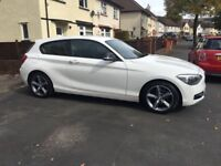 BMW 1 series 116d sport 2.0l diesel white! £30 tax!